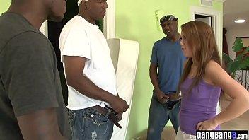 Naive MILF got banged by a black strangers huge dicks