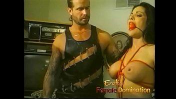 Female erotic tattoo Tattooed stud dominates a beautiful girl in the bedroom