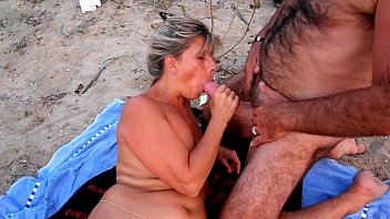 Mature old beach porn - Amateur cuckold beach
