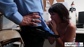 Nasty cop stole a petite latina MILFs wet tight thing