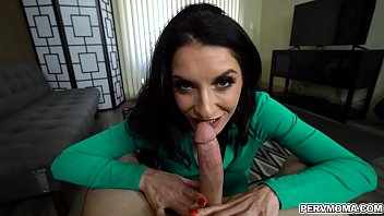 Brunette mom ready for more of stepson thick cock!