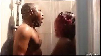 Nigerian couple fuck in shower