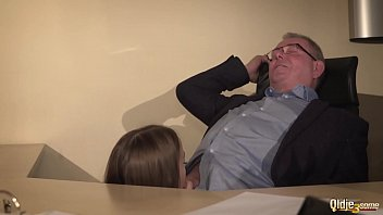 Sexy secretary joins in hardcore threesome with her boss and gets deep pussy fuck thumbnail