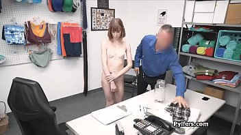 Coed hidden camera blowjob - Redhead coed faces hard justice at the security room