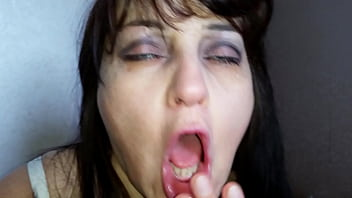 Stepson Incredibly Hard Fucked In The Throat Of His Stepmother (Alina Tumanova)