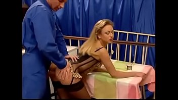 Petite Blonde Milf Analized in Kitchen Facial