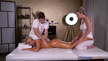 3 dicks n 1 woman - Massage rooms oil soaked sensual blonde czech ffm threesome