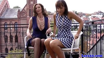 Classy british milf gets pearls in her highheels | oral | cougar | glamour