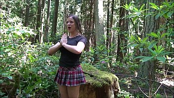 Washinton trails ass Cheerleader fucked in the woods - erin electra