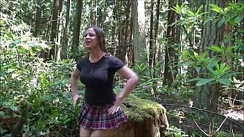Amateur outdoor big tits - Cheerleader fucked in the woods - erin electra