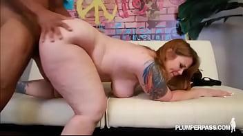 Redhead Tattooed MILF Vanya Vixen Swallows Huge Latin Dick