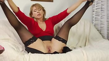Anna opens her legs while her stepson penetrates his tongue on her clit