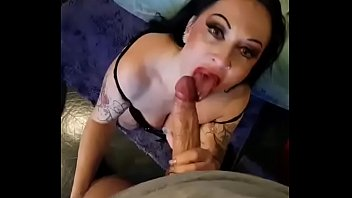 Slut sucking cock, talking dirty