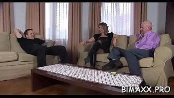 Bi-sexual babes sharing boyfriend in anal bareback xxx scenes