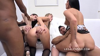 Anal interracial orgy with Arwen Gold and friends getting deep DP and DAP