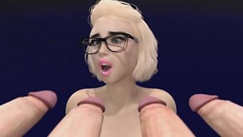 3D Shemale Cum Party - Better Futanari Cumshots Compilation, a lot of Sperm