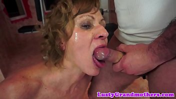 Smalltit granny assfucked in weight room