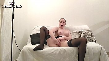 Blonde in Sexy Lingerie Masturbate Wet Pussy - Hot Solo