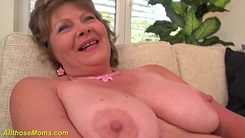 crazy 76 years old big boob mom alone at home
