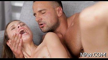 Erotic rug munch for cute nubile