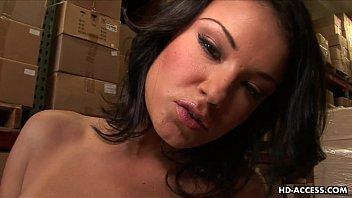 Brunette sex Goddess toys her smooth shaven cunt preview image