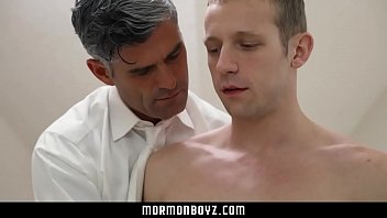 Blonde stud loves daddy's cock
