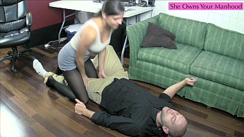 Mini skirts and pantyhose Kinky coworkers part 1