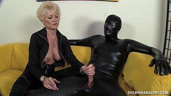 Old mature domina - Dominant granny dominates her slave