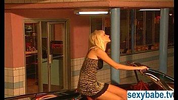 Bleach blonde masturbating