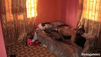 Husband Caught Wife On Hidden Camera Fucking Another Man In Their Matrimonial Bed - NOLLYPORN image