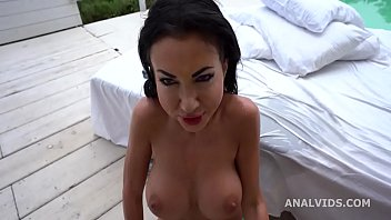 Laura Fiorentino 3on1 wet, Balls Deep Anal, Rough Sex, Creampie and Swallow GIO1459
