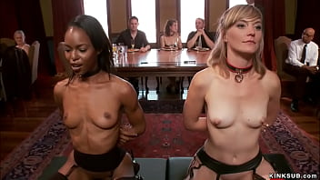 Slaves trained and humiliated at party