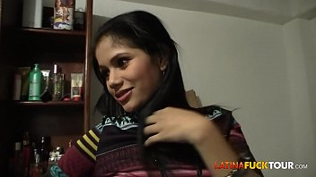Real Colombian Amateur Teen Gets a Surprise Facial