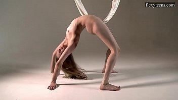 Brunette Sofia sexy gymnast