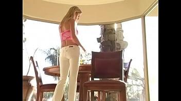 FTV Allison - No panties under white jeans