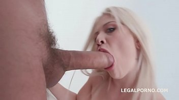 Blonde Slut Anna Ray Hardcore Smashed With Deepthroat & Squirt In Mouth