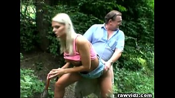 Dad fuck girls pussy - Perv dad bangs hot blonde teen at the park