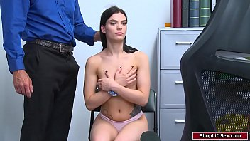 Teen babe fucked by officer for stealing