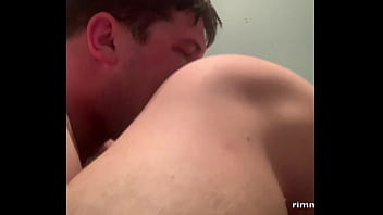 Male gay facesitting Tongue fuck side view - preview rimming