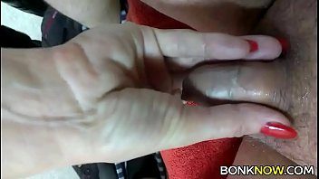 Penis sinking in Babe plays with tiny cock