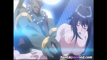 Big cock monster filling up big boob girl preview image