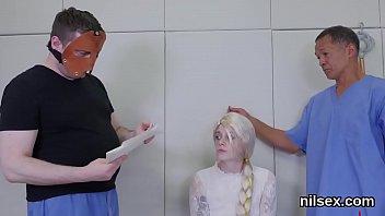 Flirty girl is taken in anus assylum for harsh therapy
