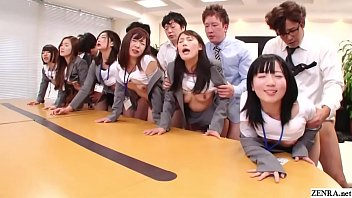 Japanese bizarre sex - Jav huge group sex office party in hd with subtitles