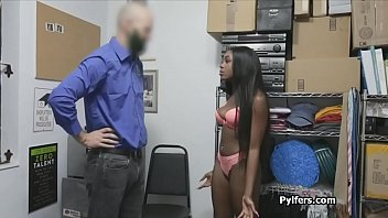 CCTV catches as sexy black thief gets punished at the office