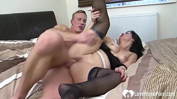 Hot MILF gets pounded while wearing stockings
