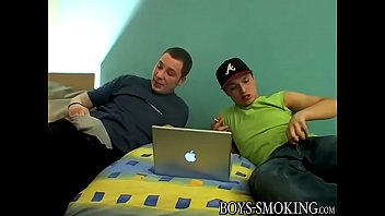 Cigar smoking twink pounding his friend hard from behind