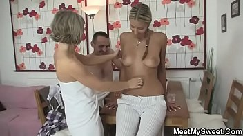 I just found her riding my dad's cock