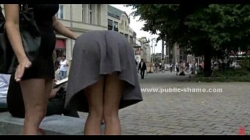 Slut humiliated in public sex video