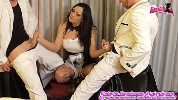 German latina Maid make ana threesome in Hote