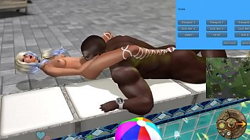 Fucking a hot white bitch at Second Life